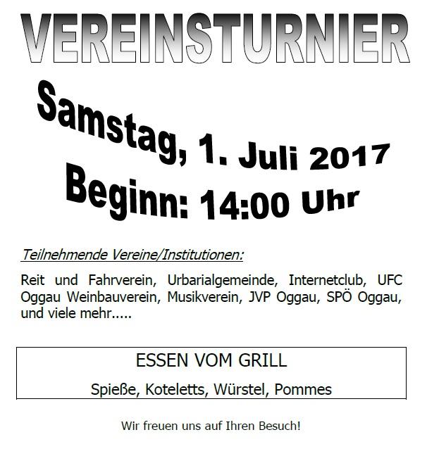 Vereinsturnier 2017